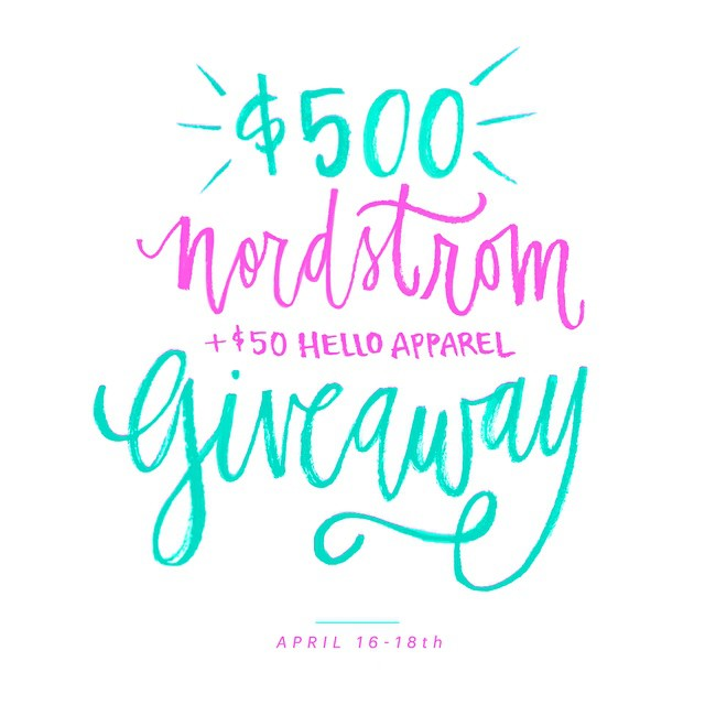 Want to win $500 to Nordstrom AND a $50 shop…