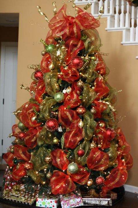 Beautiful Deco Mesh Christmas Tree Ideas Part - 11: How To Put Mesh On Christmas Tree Part - 19: IMG_2150 .