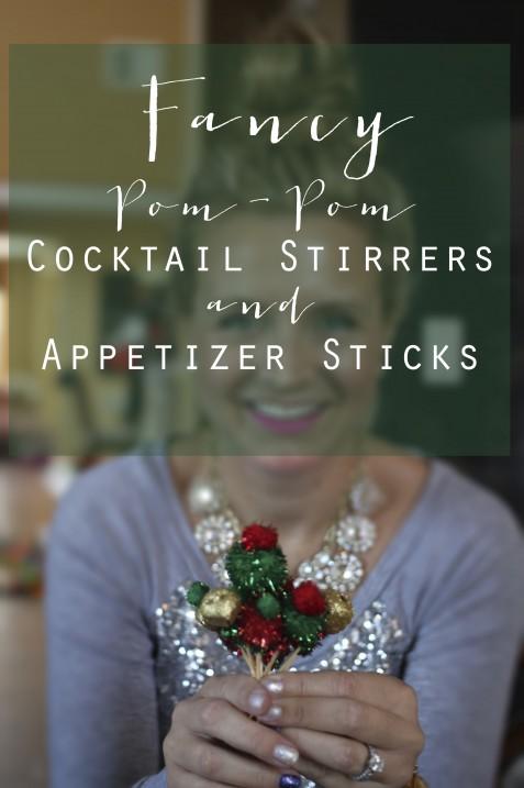 Fancy Pom-Pom Cocktail Stirrers and Appetizer Sticks // Fancy Ashley