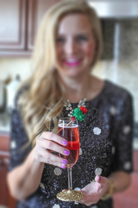 Fancy Pom-Pom Cocktail Stirrers // Fancy Ashley