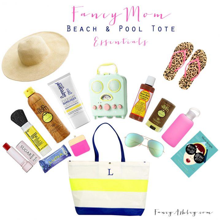 Pool and Beach Tote Essentials // Fancy Ashley
