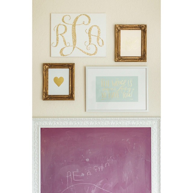 One of my favorite walls in Reagan's room. A pink…