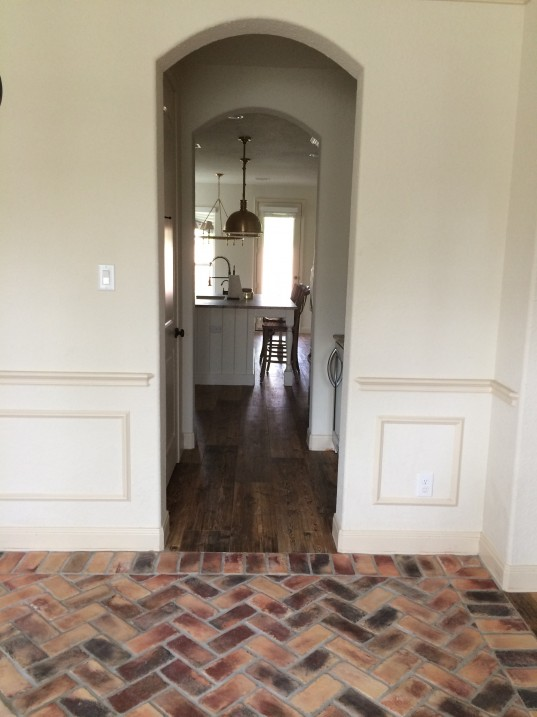 Ceramic Wood Tile and Brick Flooring // Fancy Ashley