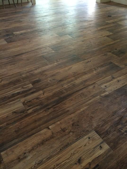 Ceramic Wood Tile Floors // Fancy Ashley