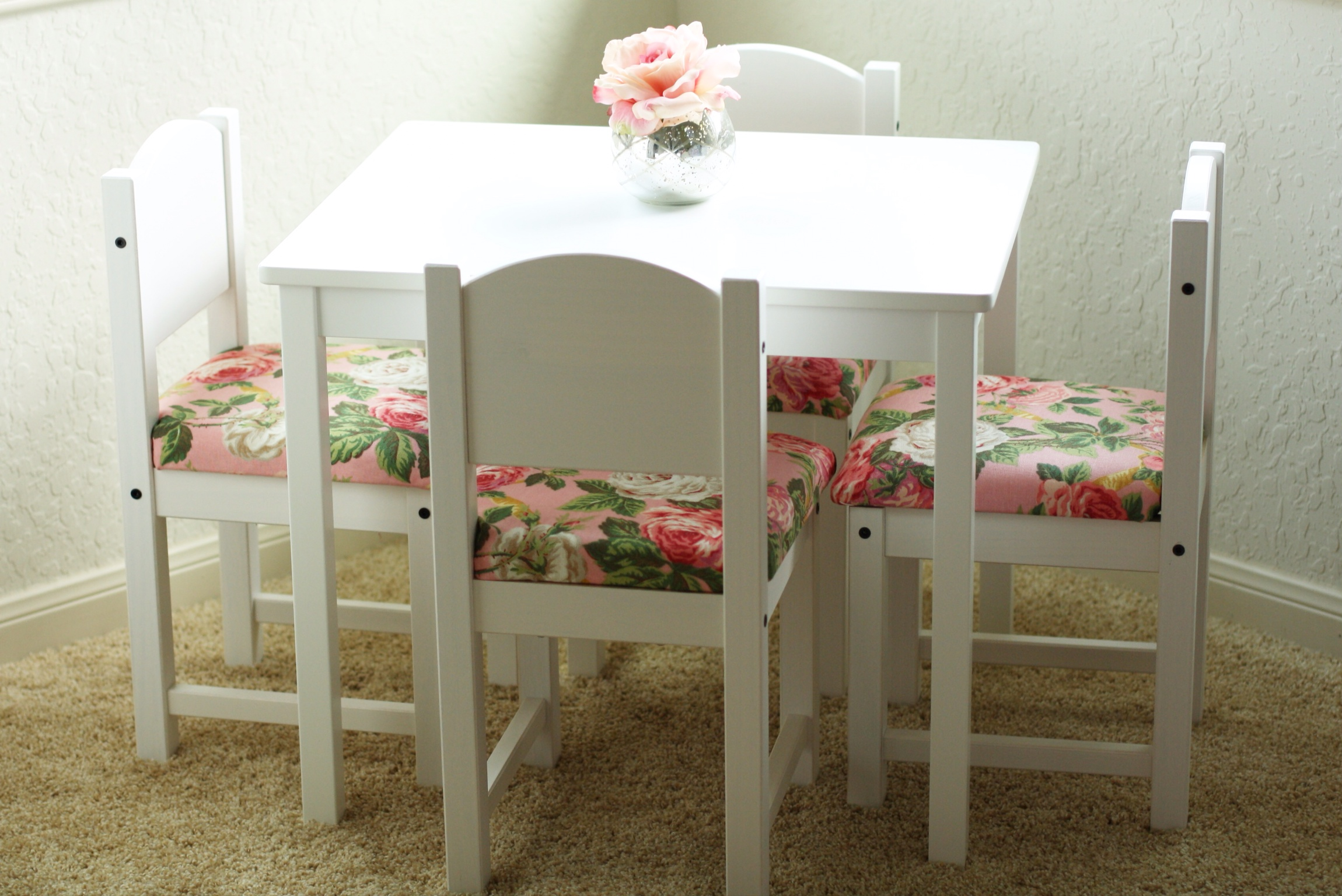 diy fancied up kids table and chairs ikea hack fancy ashley