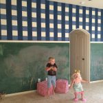 DIY Gingham and Chalkboard Wall