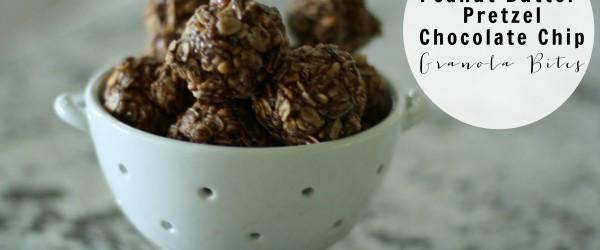 Peanut Butter Pretzel Chocolate Chip Granola Bites // Fancy Ashley