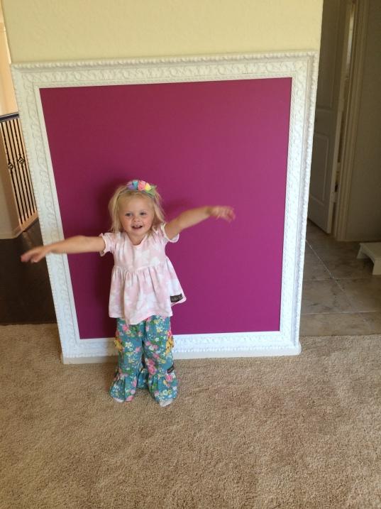 Framed Chalkboard // Fancy Ashley