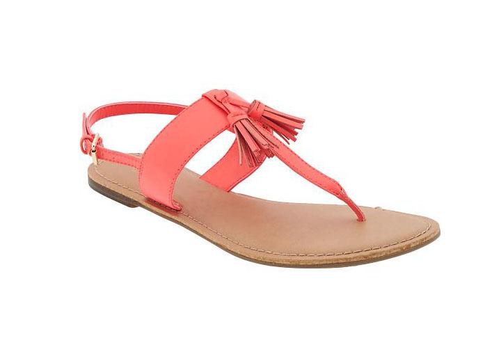 Neon Pink Tassel Sandal