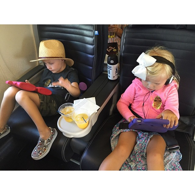 Enjoying their random upgrade with preflight drinks Too funny dailyfancyashley2015hellip