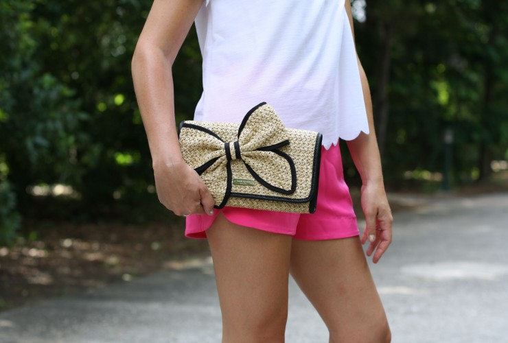 Scalloped Top and Pink Shorts