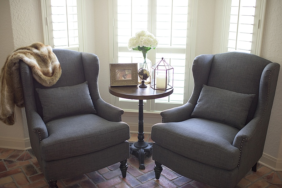 His and Hers Office Seating Areas - Fancy Ashley