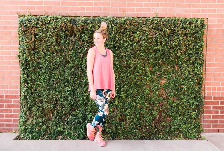 Floral Print Workout Pants