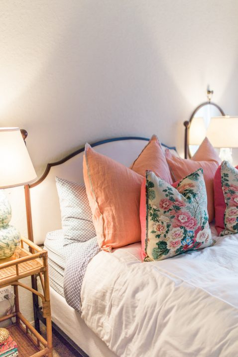 floral pillows bedroom