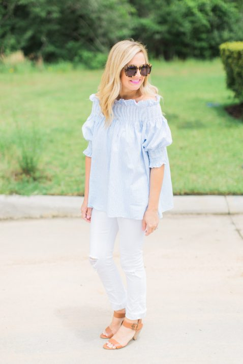 off-the-shoulder-top-and-white-denim