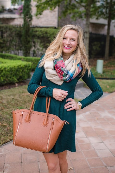 fancy-ashley-nordstrom-green-dress-brown-purse-bp-scarf-01