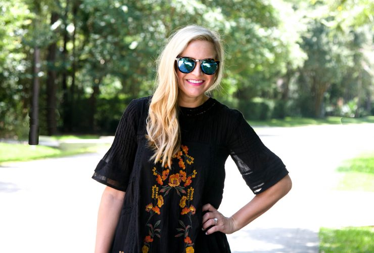 Embroidered Free People Dress – Two Ways