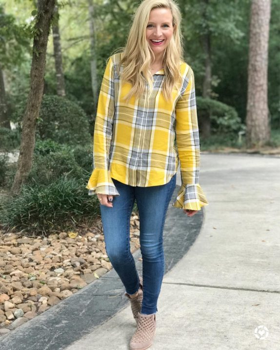 Give me all the mustard and plaid for fall! Ihellip