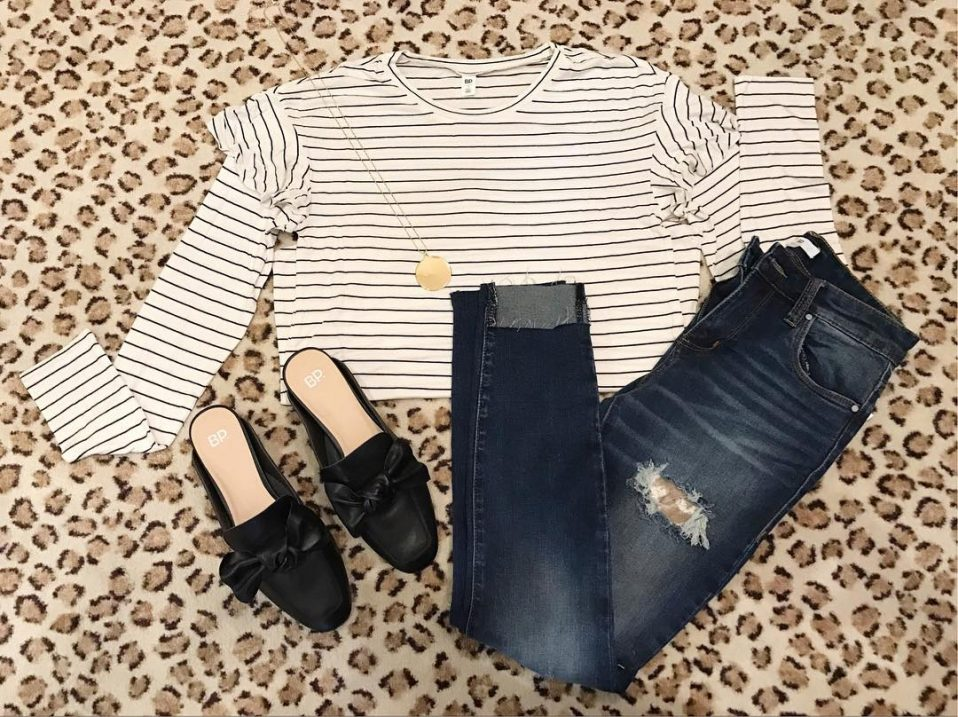 Cute outfit idea alert! This striped under 30 top ishellip