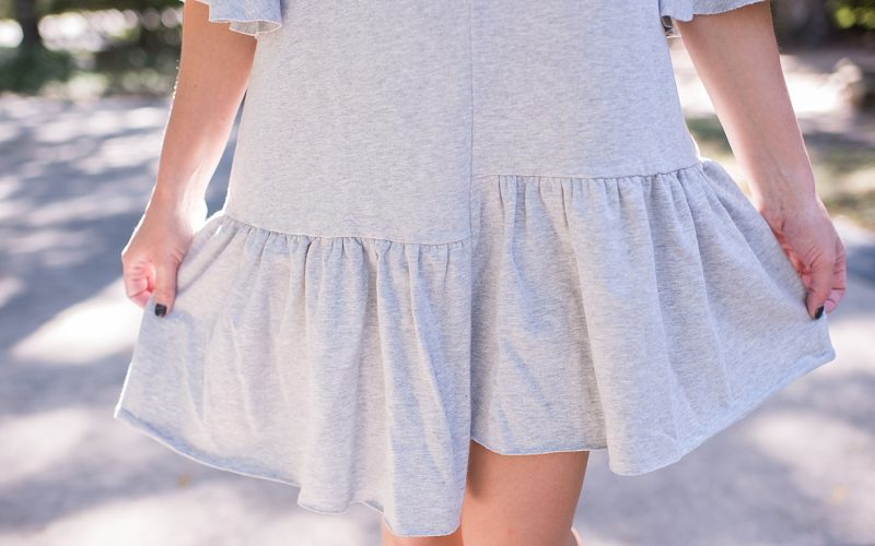Asymmetrical Hem Sweatshirt Dress