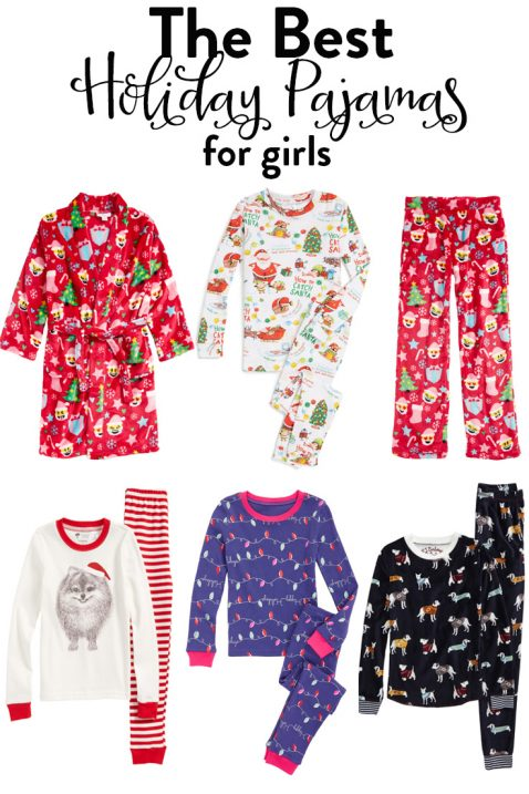 girls holiday pajamas