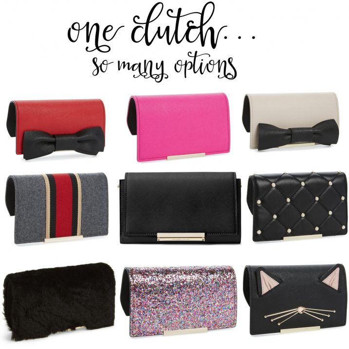 Kate spade you make it mine clutch