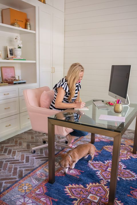 Office Reveal featured by popular Houston lifestyle blogger, Fancy Ashley