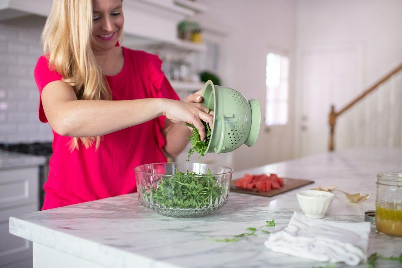 Arugula, Watermelon and Feta Summer Salad Recipe featured by popular Houston lifestyle blogger, Fancy Ashley