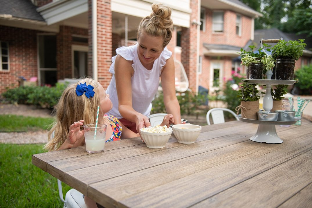 At Home Patio Makeover featured by popular Houston lifestyle blogger, Fancy Ashley