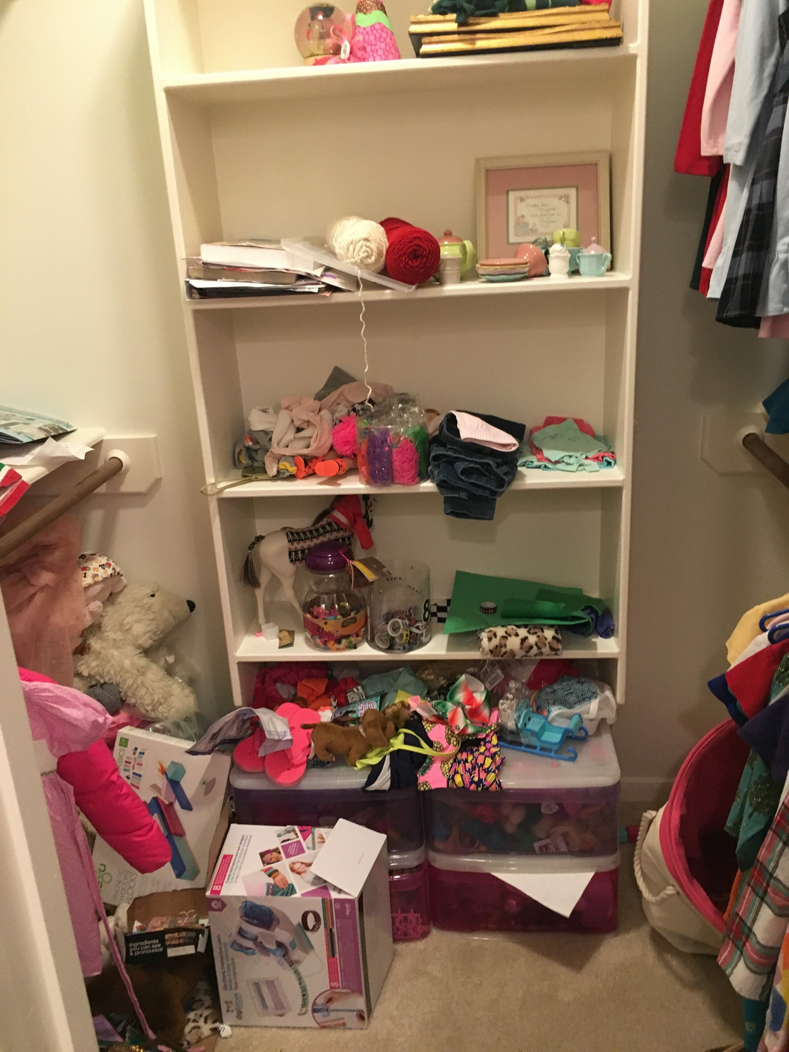 5 Super Helpful Closet Organization Tips for your Family featured by popular Houston lifestyle blogger, Fancy Ashley - BEFORE