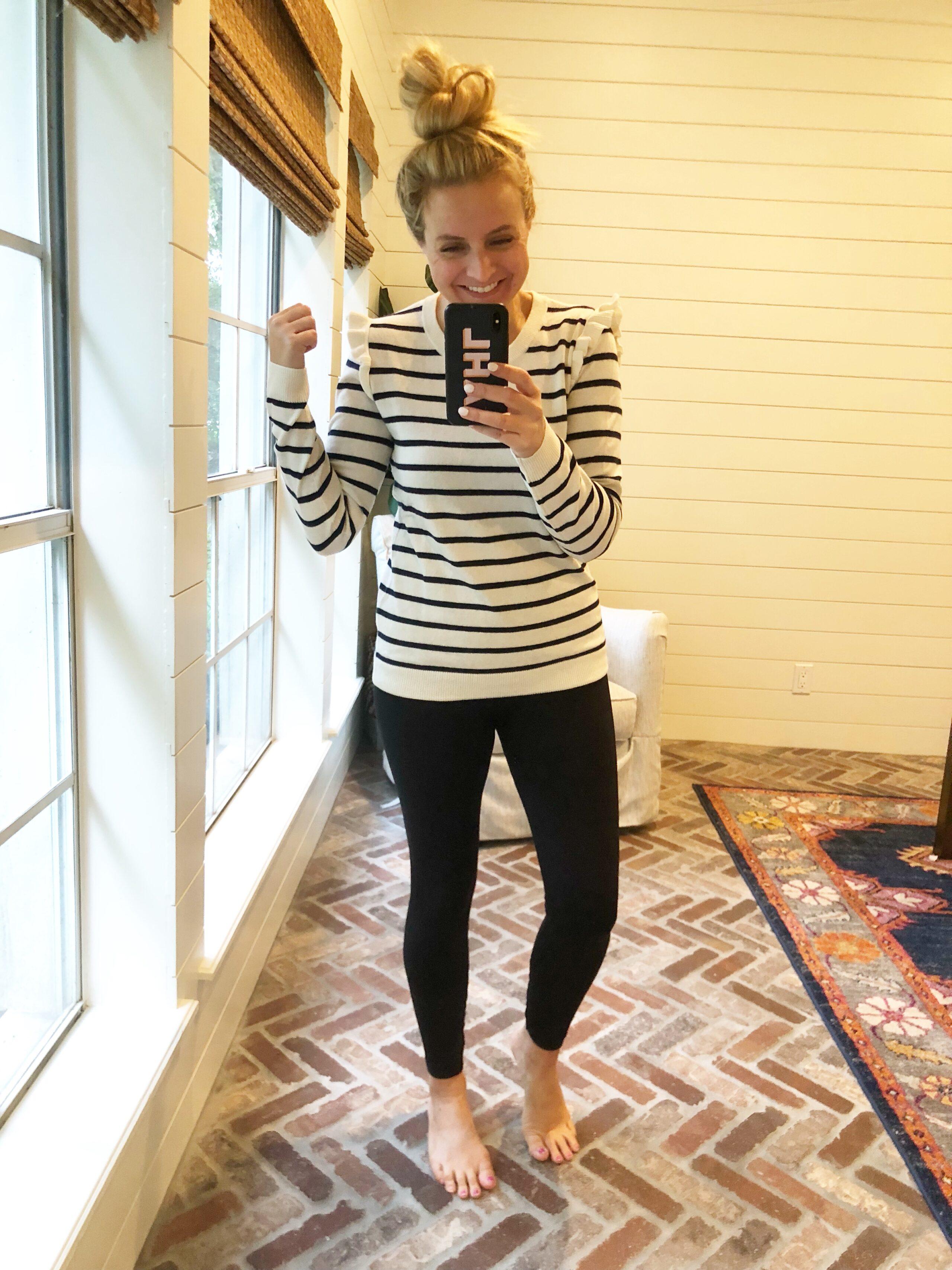 J Crew Favorites on Amazon, featured by popular Houston fashion blogger, Fancy Ashley: J Crew striped sweater