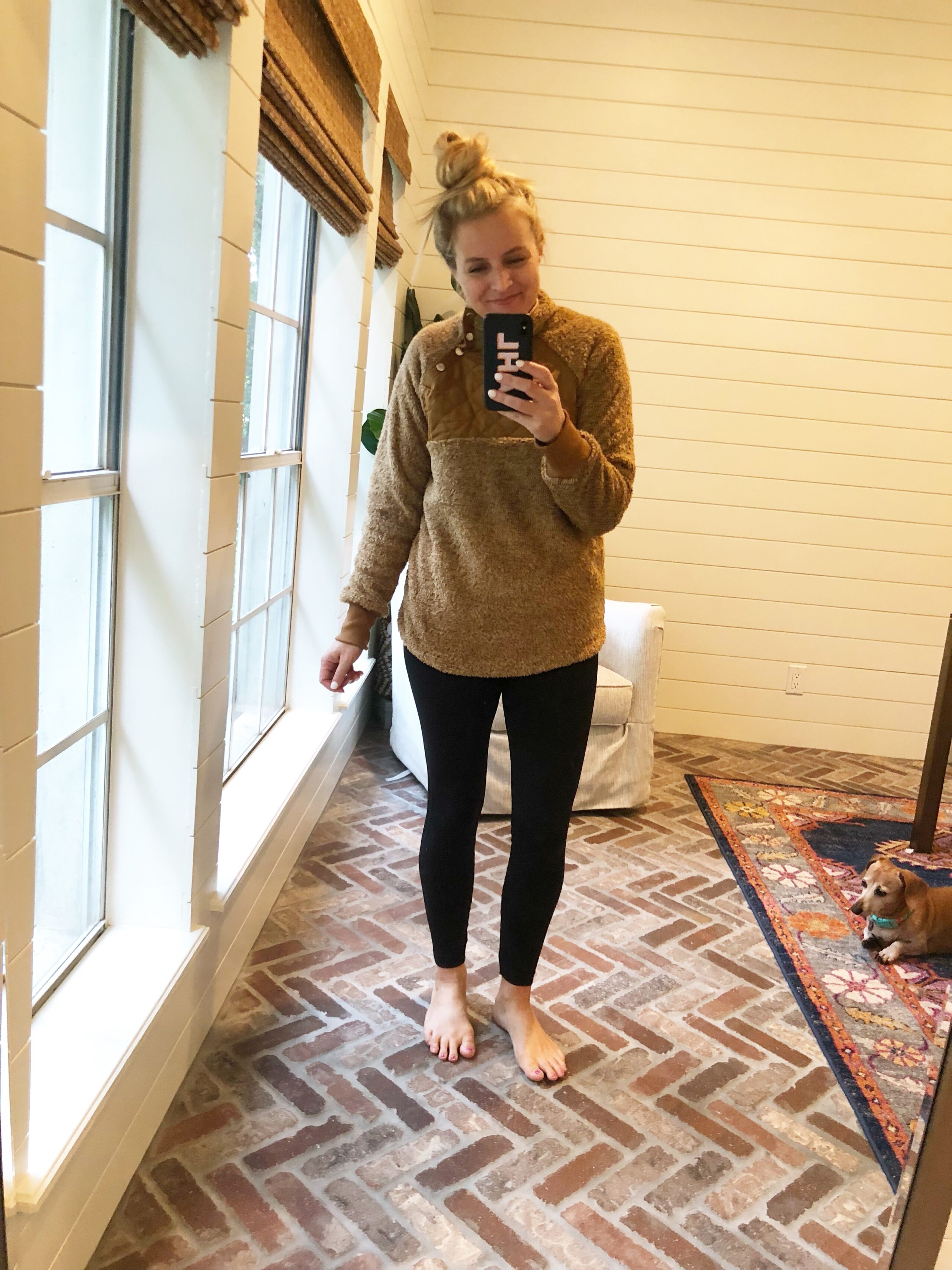 Friday Favorites featured by popular life and style blogger, Fancy Ashley: Brown Pullover