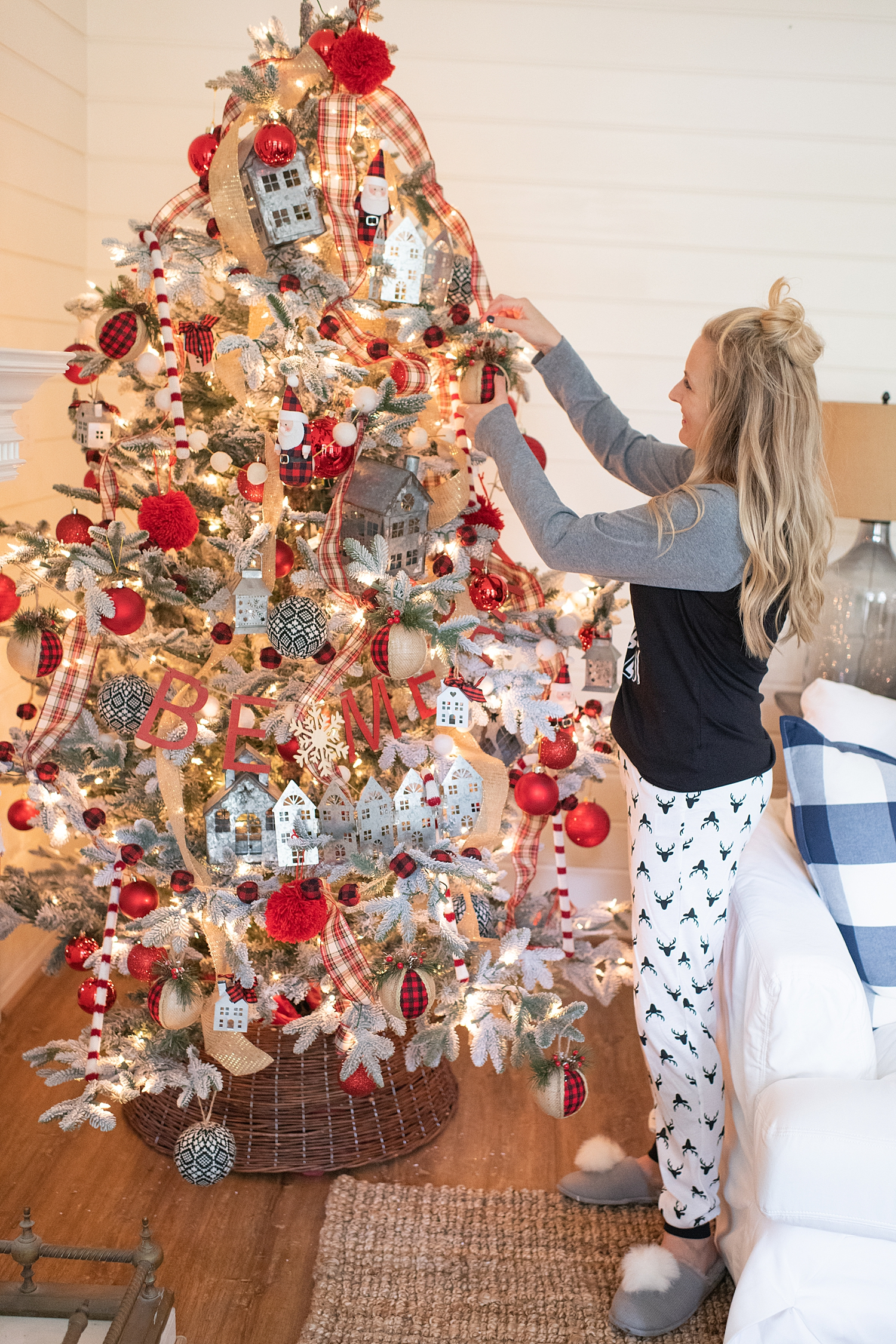 Holiday Pjs & Top Macy's Christmas Gifts featured by top Houston life and style blog, Fancy Ashley: image of a Christmas tree and ornaments available at Macy's