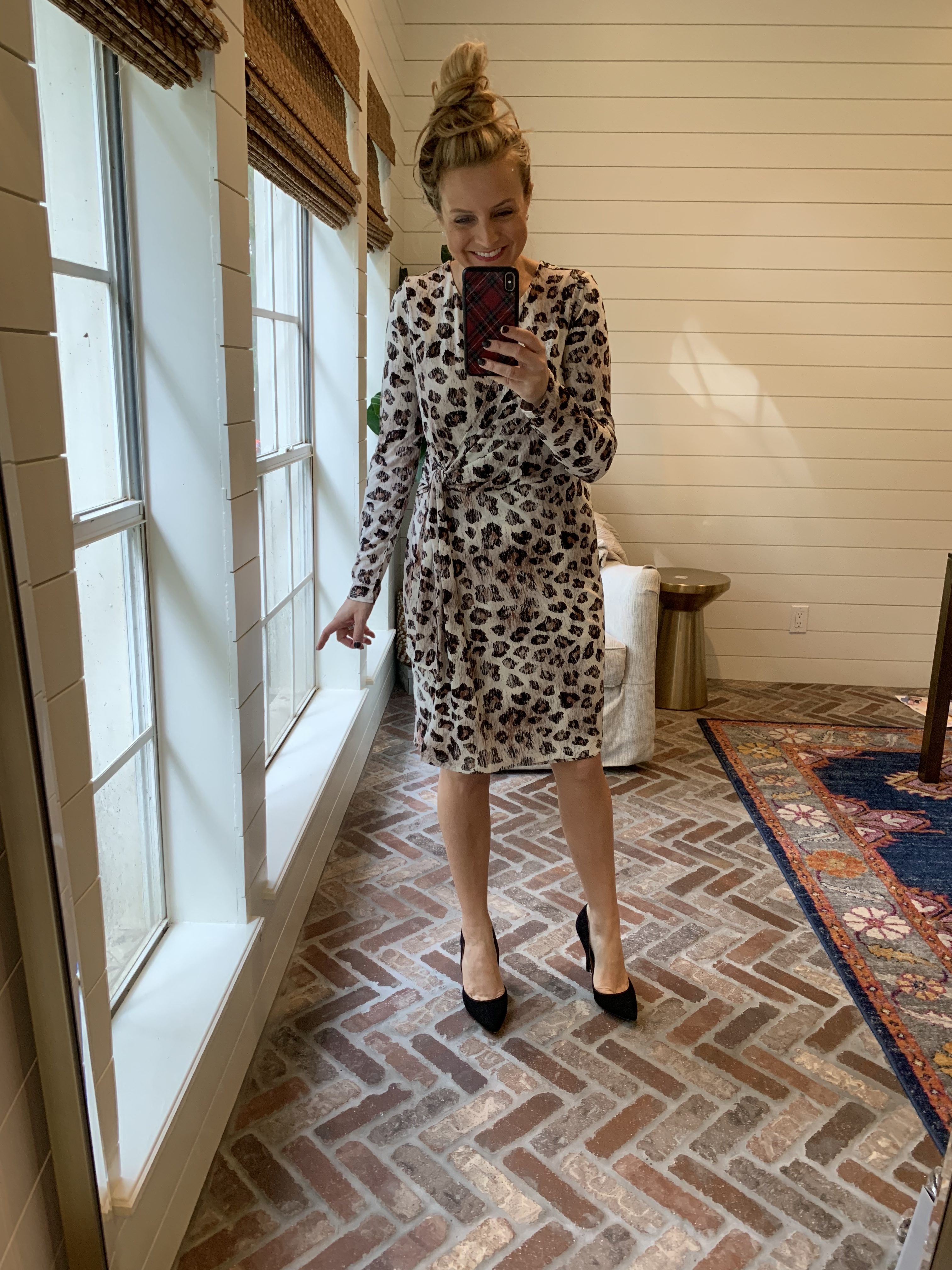 Amazon Favorites featured by top Houston fashion blog, Fancy Ashley: holiday party leopard dress