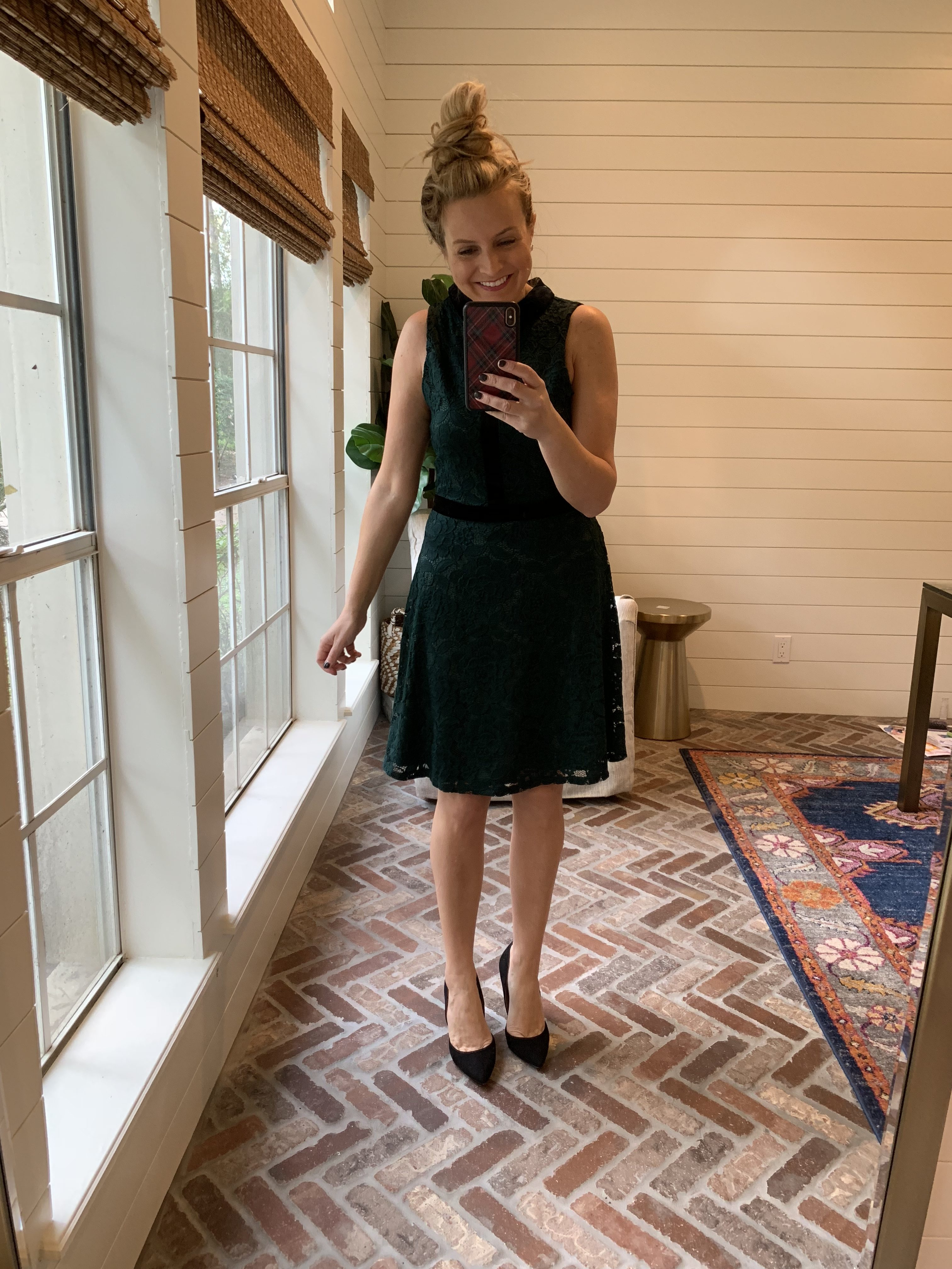 Amazon Favorites featured by top Houston fashion blog, Fancy Ashley: green holiday party dress