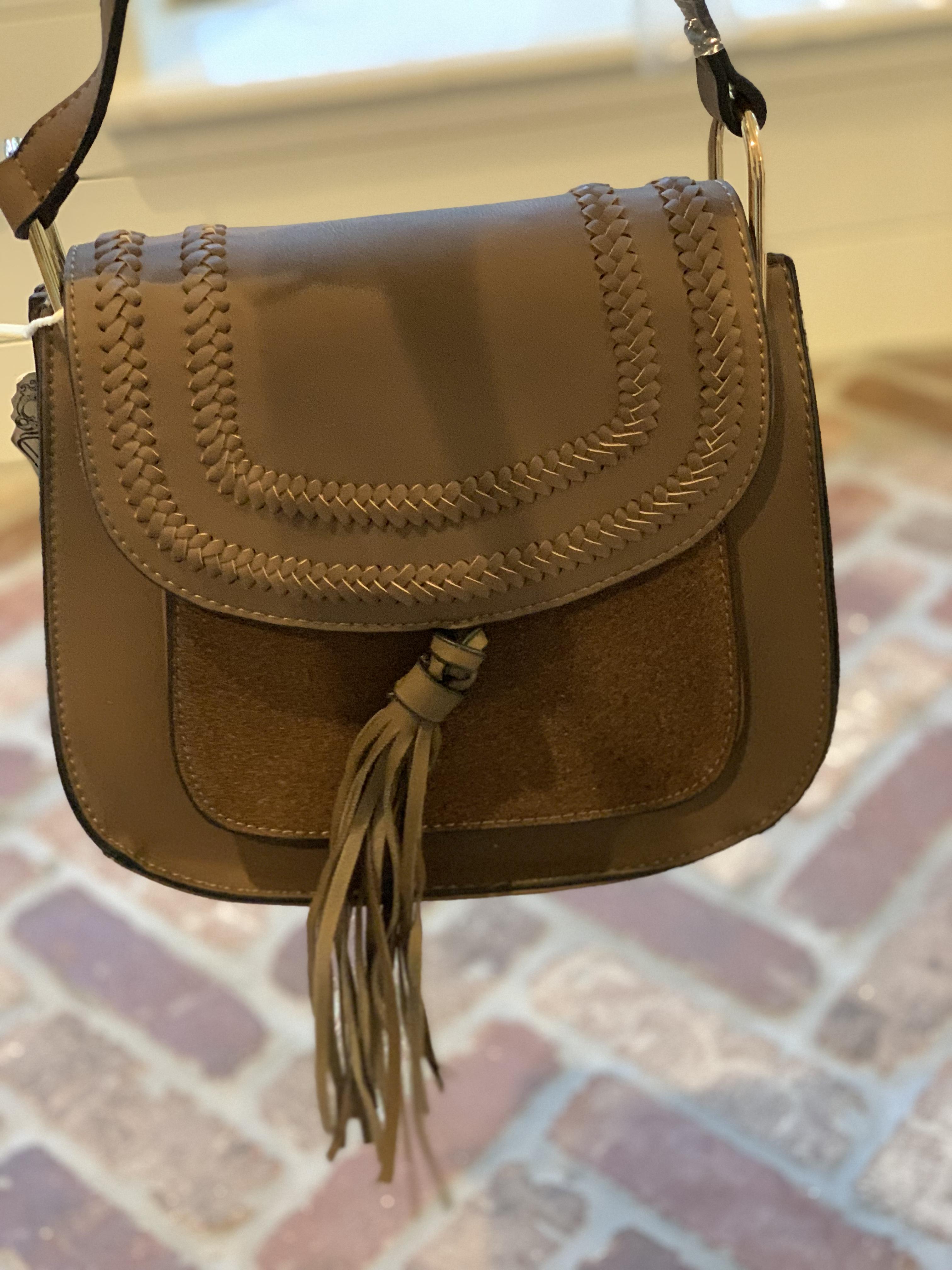 Amazon Favorites featured by top Houston fashion blog, Fancy Ashley: brown crossbody bag