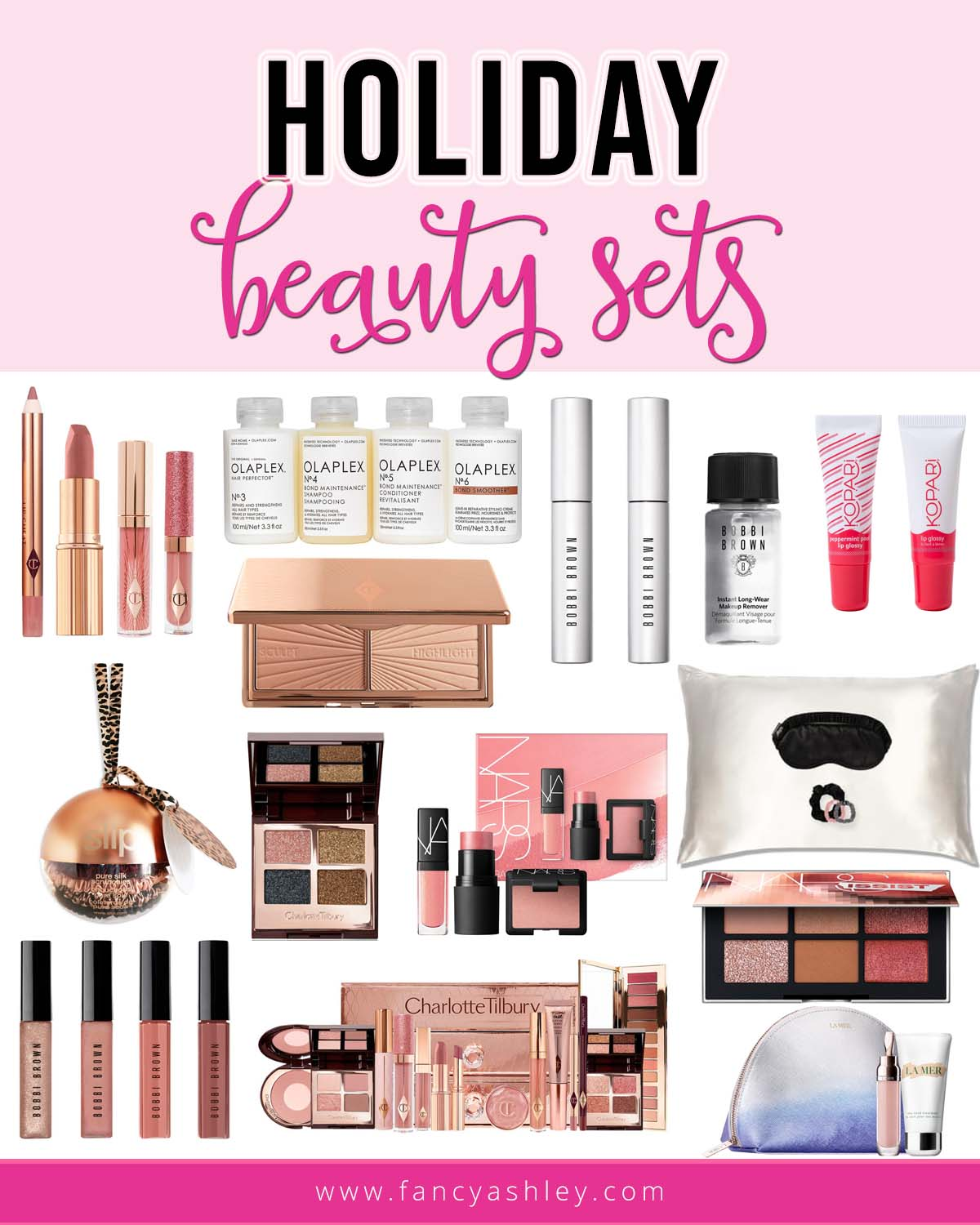 Fall Beauty by popular Houston beauty blog, Fancy Ashley: collage image of Nordstrom beauty products.
