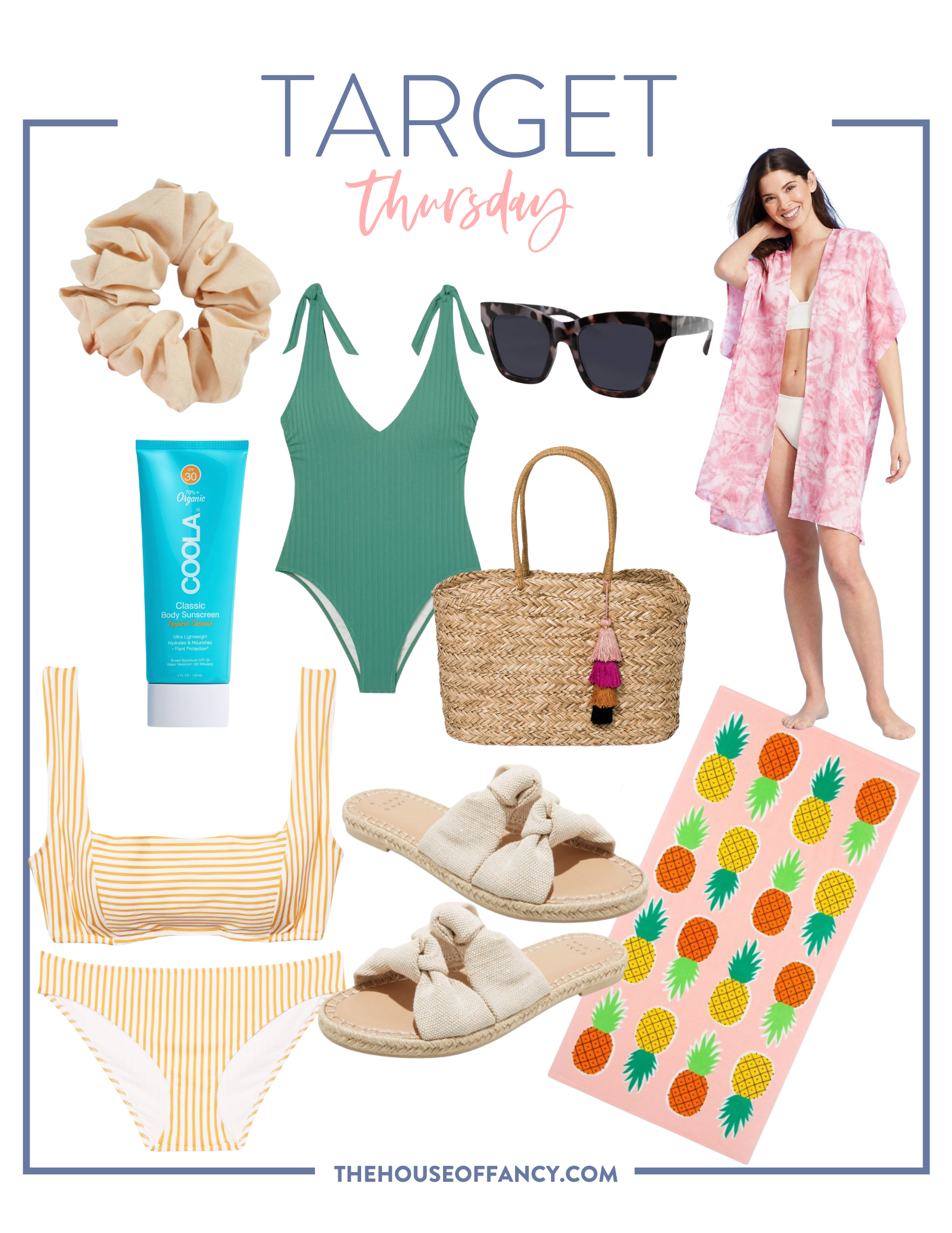 Summer Fashion Essentials from Target featured by top Houston fashion blogger, House of Fancy: target summer items for beach or pool